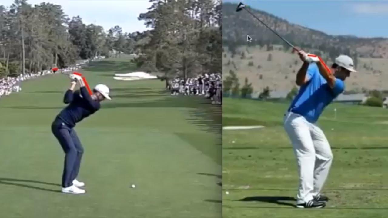 Dustin Johnson Jon Rahm Bowed Left Wrist Golf Swing Slow
