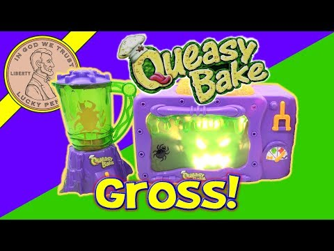 2002 Queasy Bake Oven & Mixerator - Dip 'N Drool Dog Bones & Larva Licious Cocoon Cookies