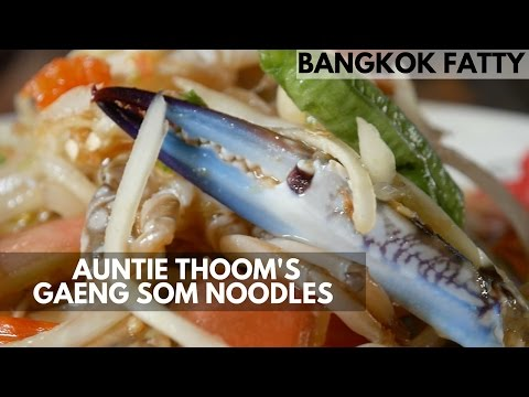 Auntie's Thoom's Thai Curry Noodles Near Phala Beach in Rayong, Thailand