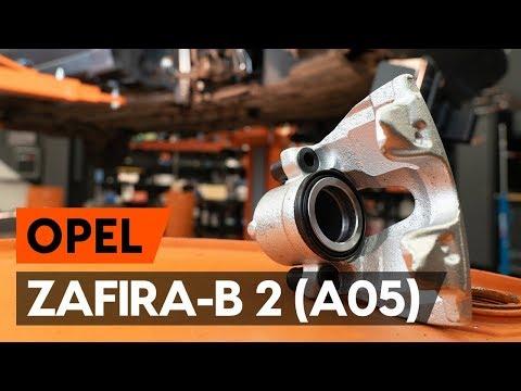 Cum se înlocuiește etrier frana din față pe OPEL ZAFIRA-B 2 (A05) [TUTORIAL AUTODOC]