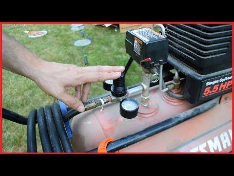 sears-craftsman-air-compressor-repair---leaky-regulator-control