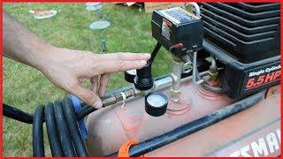 Sears Craftsman Air Compressor Repair - Leaky Regulator Control
