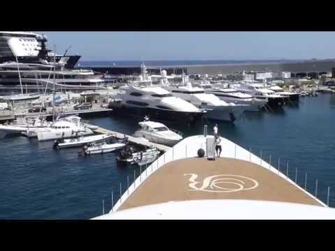 Onboard a Super Yacht:  Fast turn and docking in Monaco