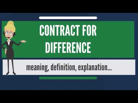 What is CONTRACT FOR DIFFERENCE? What does CONTRACT FOR DIFFERENCE mean?