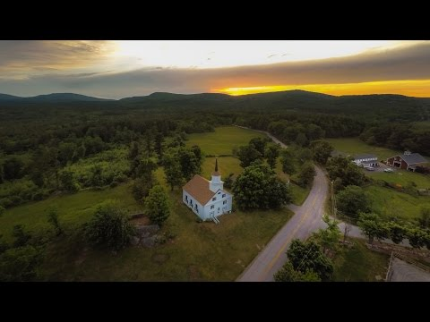 Southern New Hampshire DRONE Aerial Sunset Compilation
