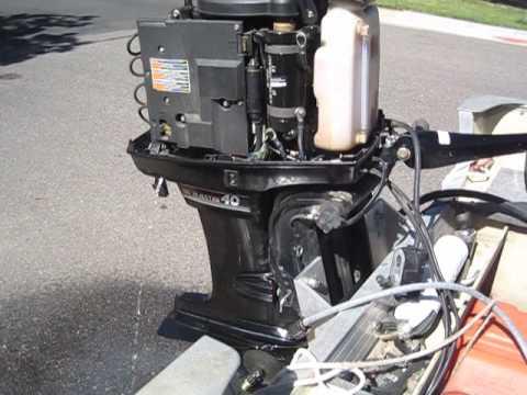hqdefault 1992 40 hp mercury classic motor youtube  at readyjetset.co