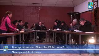 Concejo Municipal Miércoles 19 de Junio 2019 -El Quisco
