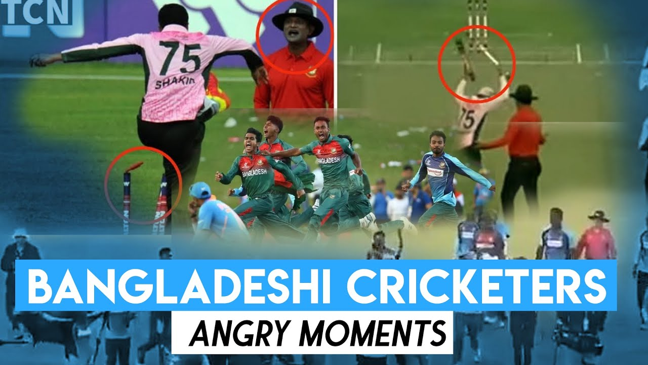 5 Videos to prove that Bangladeshi cricketers need anger management