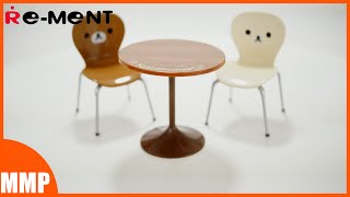 Re-ment Rilakkuma Cafe Table And Chair Set Miniature / リーメント カフェテーブルセット リラックマ