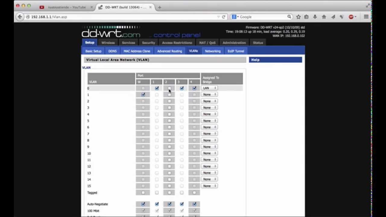 Crear y configurar Vlan con DD-WRT, junto con sus servidores DHCP