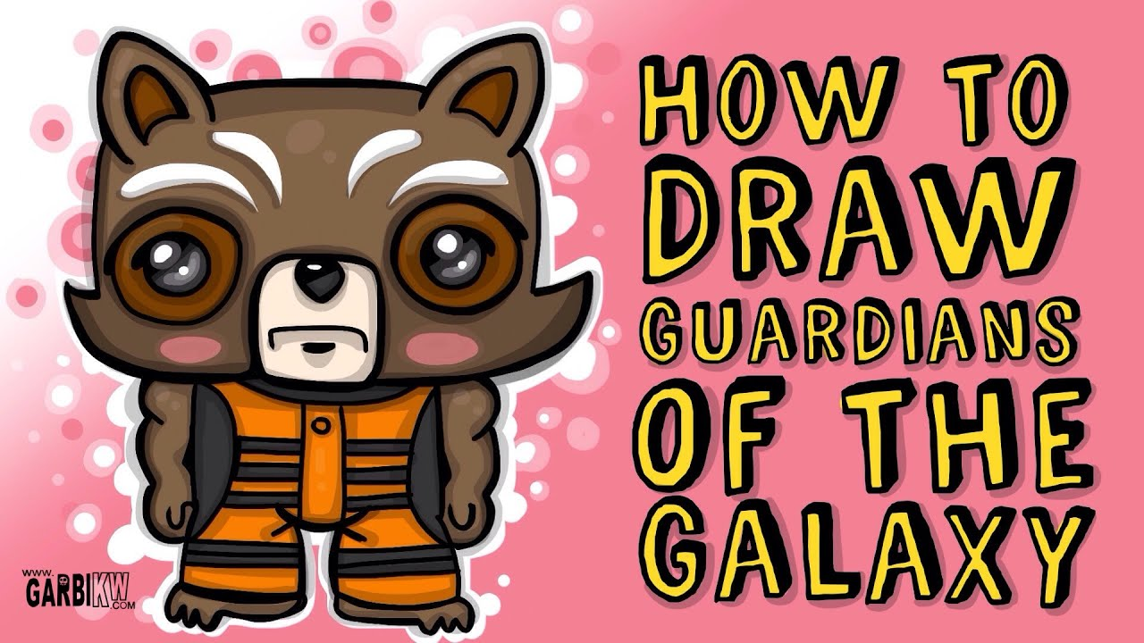 How To Draw Rocket Raccoon Guardians Of The Galaxy By Garbi Kw