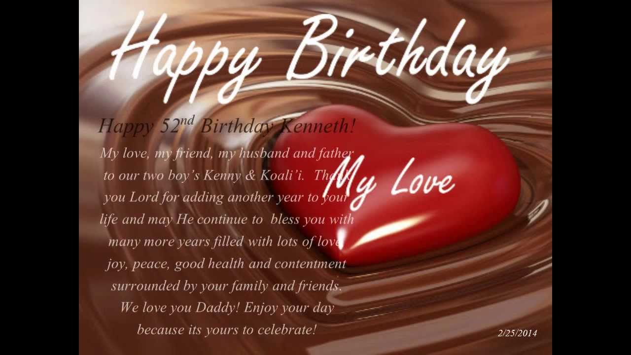 birthday message to my husband images