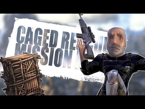 CAGED RESCUE MISSION RAID (Official Pvp Pirates) - Ark:Survival Evolved -