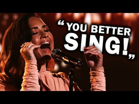 Youtubers Reacting to Demi Lovato's FLAWLESS Vocals in 'Hallelujah'!