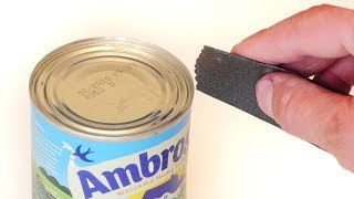 Can you Open a Can with Sandpaper?