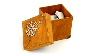 Декор коробки своими руками в технике стринг-арт