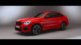 BMW X4 M studio footage