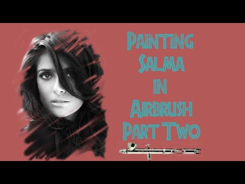 How To Paint The Portrait In India Ink Of Salma Hayek Part Two