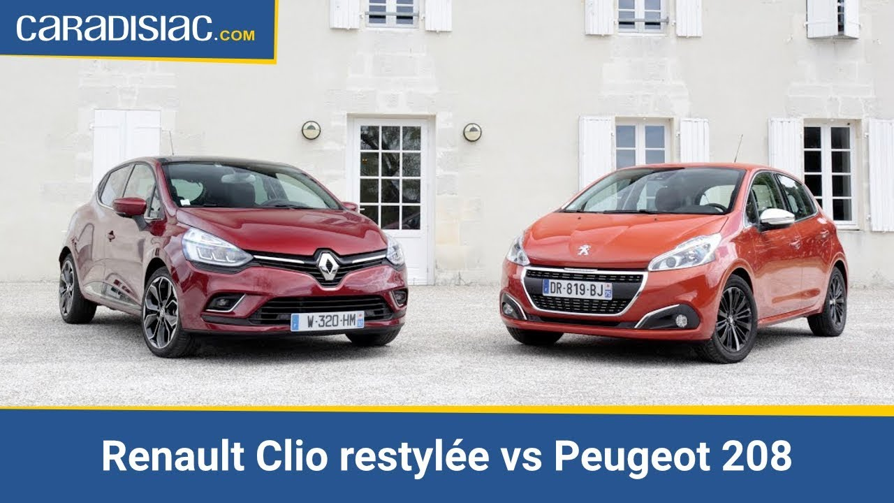 comparatif renault clio restyl e vs peugeot 208 match. Black Bedroom Furniture Sets. Home Design Ideas