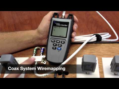 Coax Cable Network Test with T3s Coax Clarifier