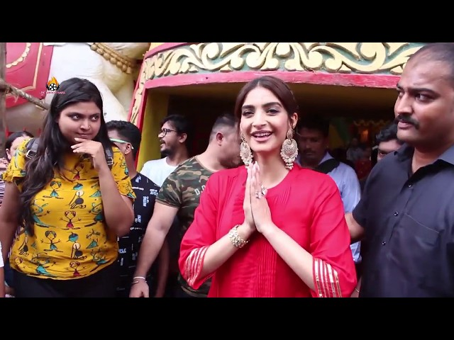 Sonam Kapoor Visit The Shani Temple For Her Upcoming Movie The Zoya Factor
