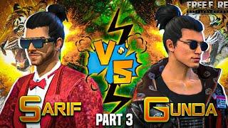 SARIF VS GUNDA ?  PART 3 || THE RETURNS || FREE FIRE SHORT ACTION FILM || RISHI GAMING