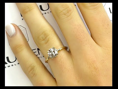 1.40 ct Round Diamond Yellow Gold Engagement Ring