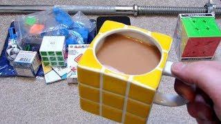 Taobao Unboxing: Magnetic Diansheng 3x3, 9.5cm Heshu 3x3 Speed Cube, Rubik's Cube Mug & More!