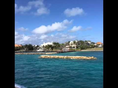 Paradise island in Nassau of Bahamas . Celebrity mansions:Oprah, Tom Cruise, Tiger woods, Bill Gates