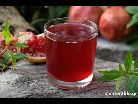 Φυσικός Χυμός Ρόδι με μια σακούλα zip - Fresh Pomegranate Juice with a zip bag