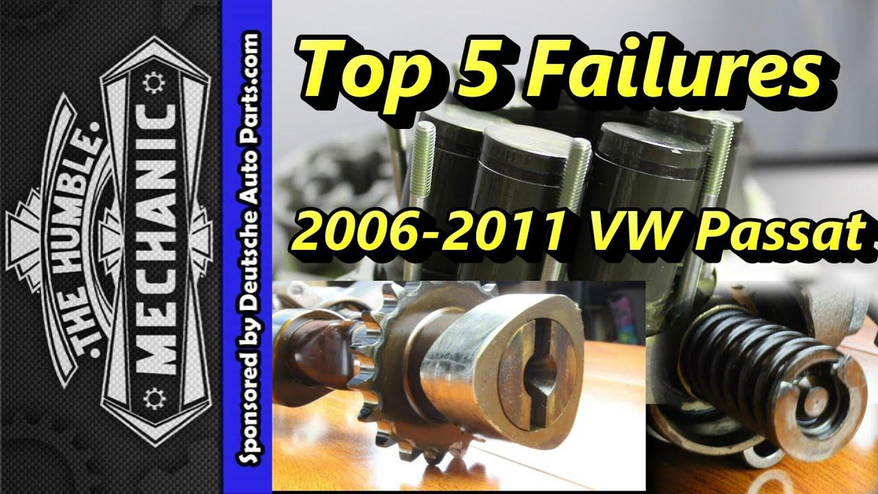 medium resolution of top 5 failures of 2006 2011 vw passats