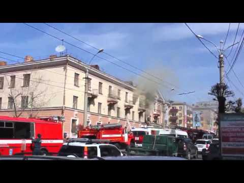 Вести-Чита.Ру Пожар ЗабГУ 5 апреля 2016 года