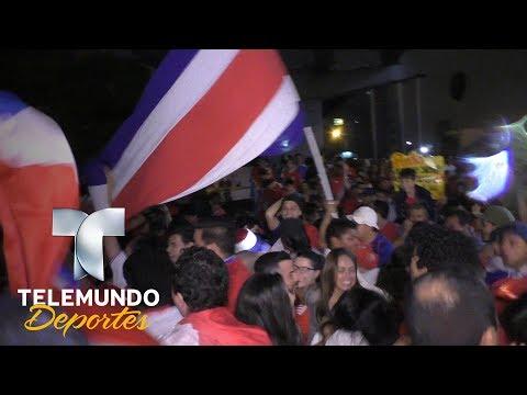 Fiesta total en Costa Rica tras su pase a Rusia 2018 |  Rumbo al Mundial | Telemundo Deportes