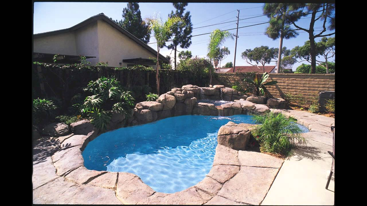 Freeform swimming pool designs - YouTube