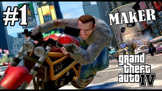 GTA 4 PC StoryMode GamePlay #1 | MAkER | JOIN ME