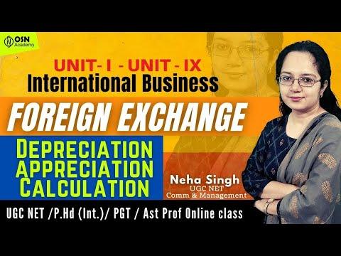UGC NET Commerce & Management | Depreciation Appreciation Calculation | Foreign Exchange Rate