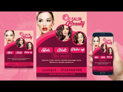 FLYER BEAUTY DESIGN IN ANDROID (photo Editor)