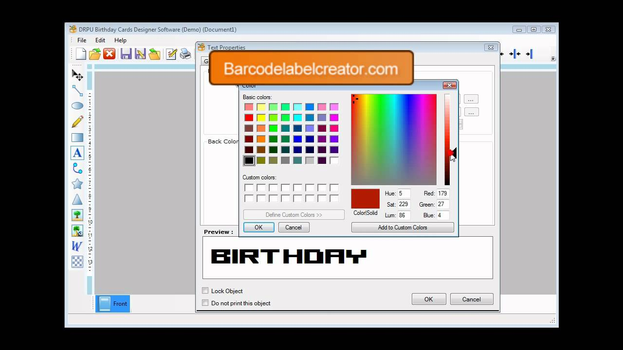 freeware custom birthday card cards invitation card maker designer ...