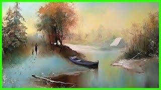 Зимний пейзаж маслом. Урок рисования для взрослых с нуля +79857776200