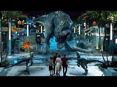 Raptors vs Indominus Rex Scene - Jurassic World (2015) Movie Clip HD streaming vf