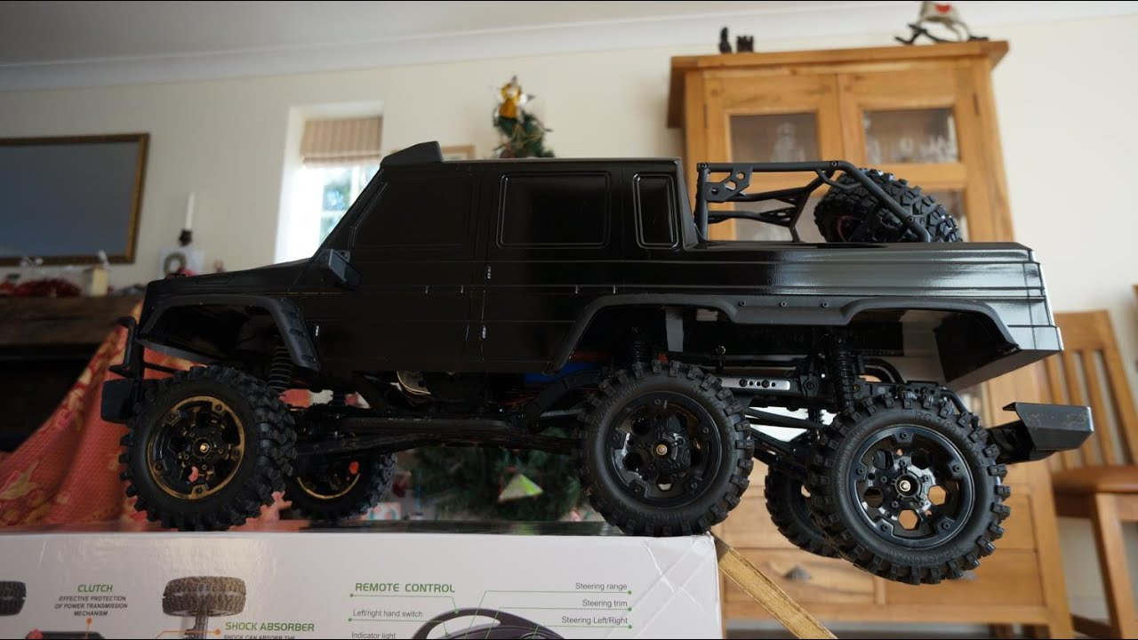 Mercedes 6x6 g wagon scale crawler tackles stairway axial for Mercedes benz g wagon 6x6 for sale