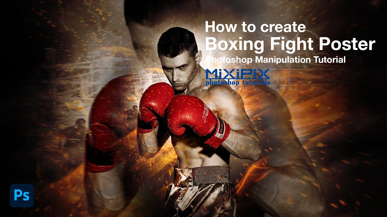 photoshop manipulation tutorial how to create boxing fight poster