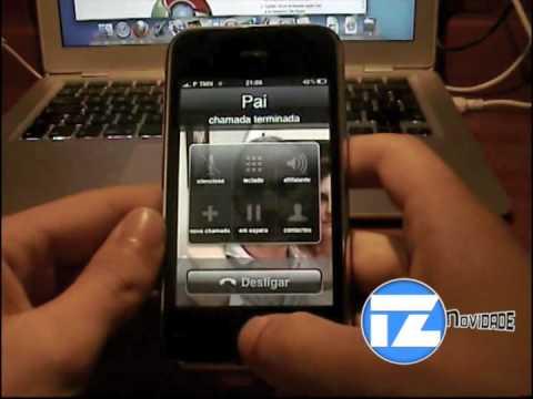Demonstração das funcionalidades do iPhone 3GS em português de Portugal (Controlo por voz)