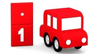Lehrreicher Zeichentrickfilm - Farben lernen mit den 4 kleinen Autos - Rot
