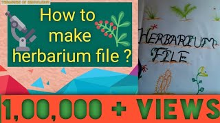 How To Make Best Herbarium File