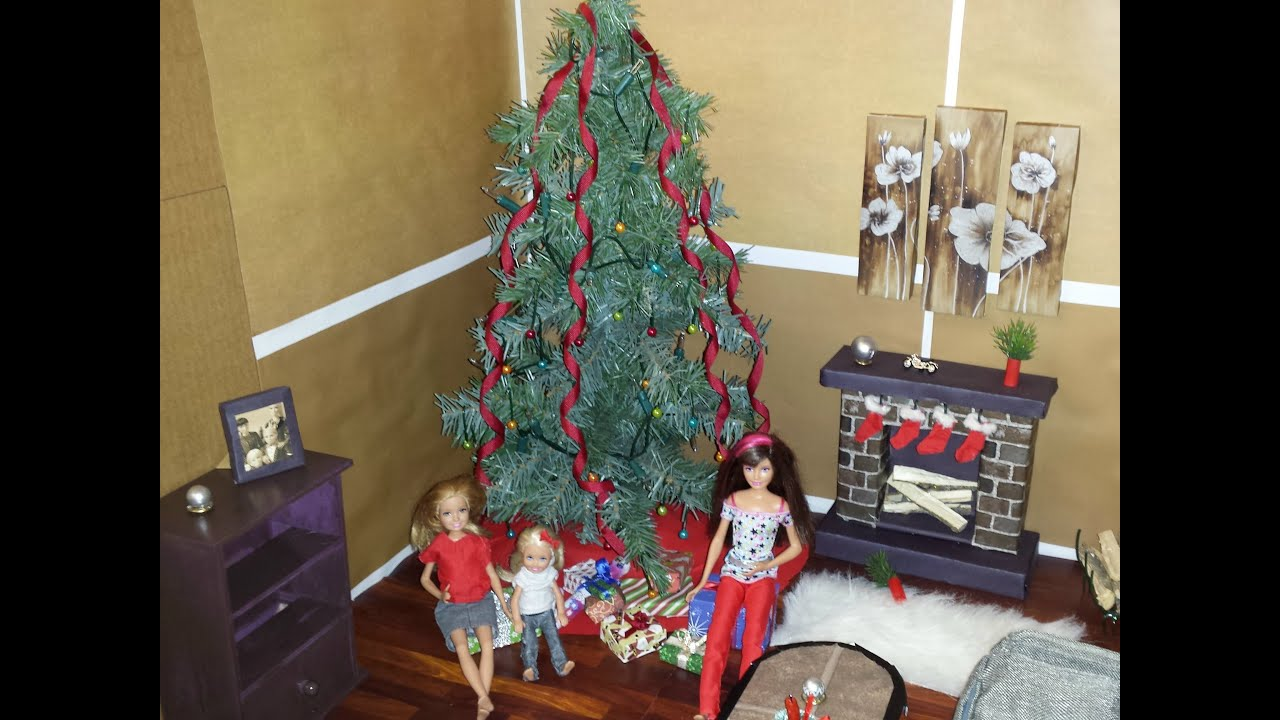 Barbie Christmas Tree Decorations.How To Make A Barbie Christmas Tree