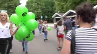 [Псв 4] Дорога пешком от станции метро сокольники до сокольнического парка летним днём акция фонтаны