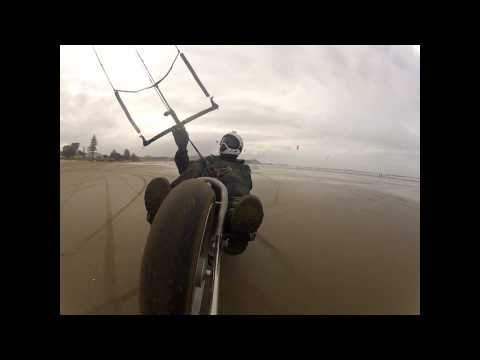 Kite Bike at Orewa 21.7.2012..