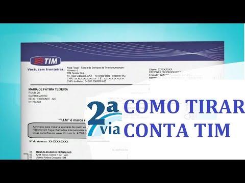 COM TIRAR SEGUNDA VIA DA CONTA TIM - Olha que Fácil Tutoriais