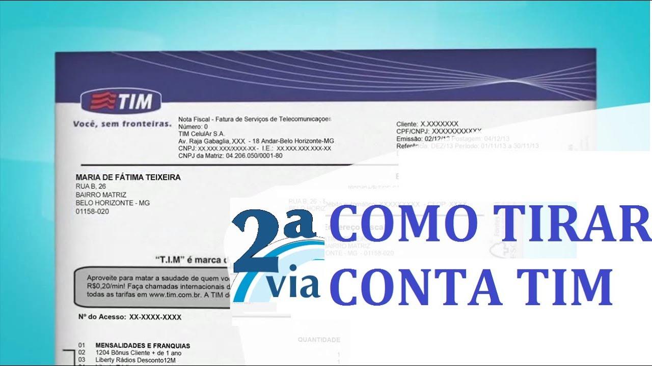 73714858a COM TIRAR SEGUNDA VIA DA CONTA TIM - Olha que Fácil Tutoriais - YouTube
